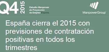 Los directivos españoles prevén seguir contratando en el cuarto trimestre de 2015