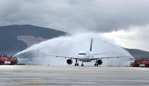 Lufthansa inaugura sus vuelos regulares a Pamplona