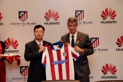 Huawei y el Atlético de Madrid presentan en China su acuerdo global