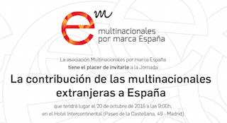 """Jornada """"La contribución de las multinacionales extranjeras a España"""" – 20 octubre"""