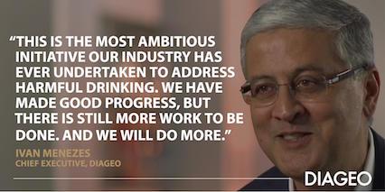 Diageo: compromiso con la reducción del consumo nocivo de alcohol