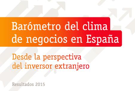 Barómetro del clima de negocios elaborado por ICEX, IESE y Multinacionales por marca España
