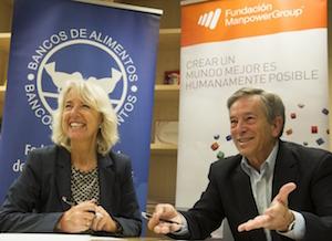 Fundación ManpowerGroup renueva su compromiso con los Bancos de Alimentos