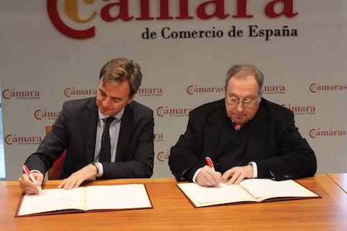 Acuerdo de colaboración de Multinacionales por marca España con la Cámara de España