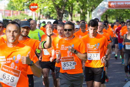 La carrera solidaria ING RUN FOR UNICEF recauda 11.870 euros