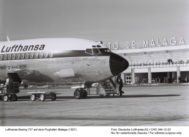 Lufthansa celebra su 50 aniversario en Málaga