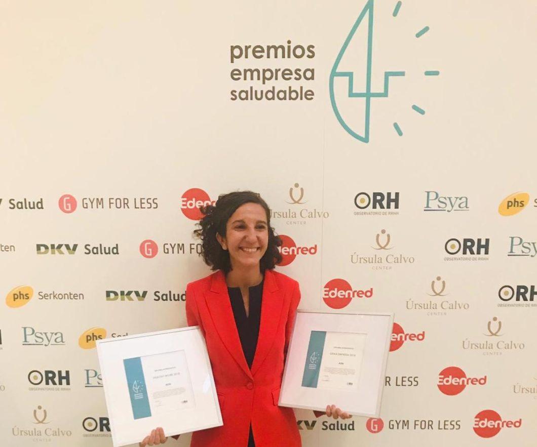 Aon, doblemente finalista en la V edición de los Premios Empresa Saludable 2018