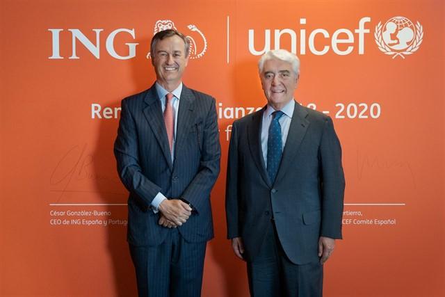 ING renueva su alianza con UNICEF tras 13 años viajando juntos