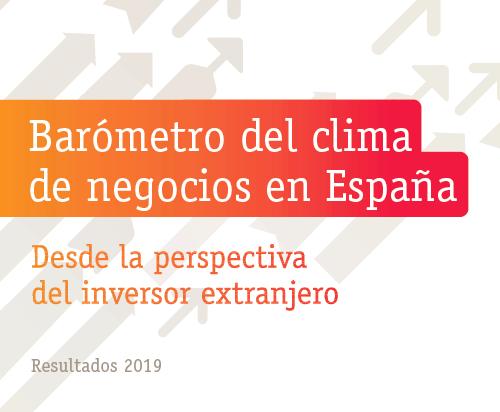 Barómetro del clima de negocios en España desde la perspectiva del inversor extranjero – Resultados 2019