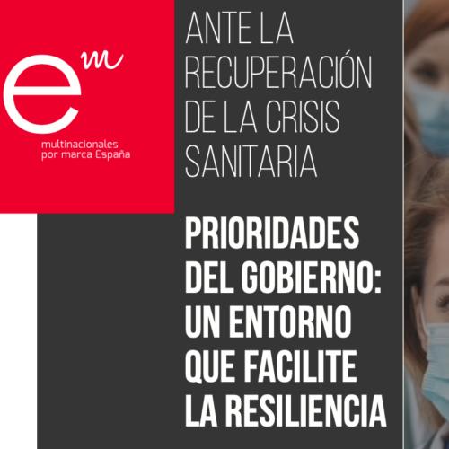 Multinacionales por marca España presenta una batería de propuestas para favorecer un entorno de resiliencia