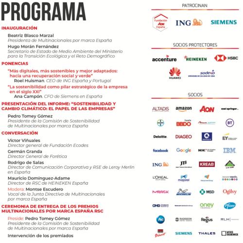 """Conclusiones de la jornada """"Sostenibilidad y cambio climático: el papel de las empresas"""""""